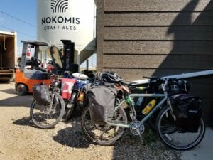 ConnecTour bikes Nokomis Craft Ales