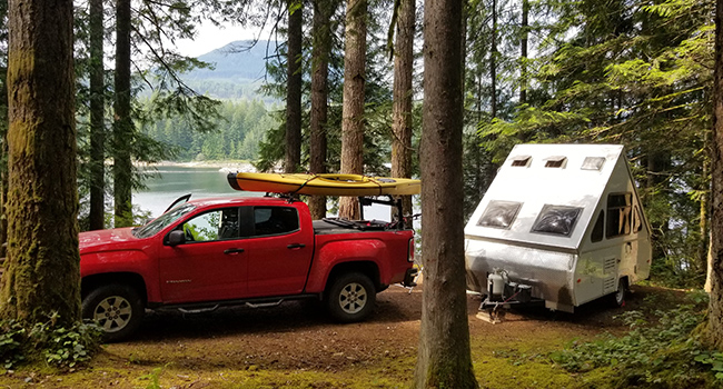 b.c. rec sites campsites lake