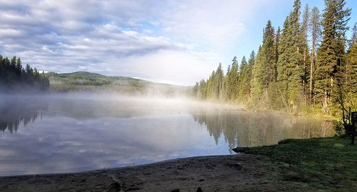 Morning Mist at Nancy Greene Provincial Park