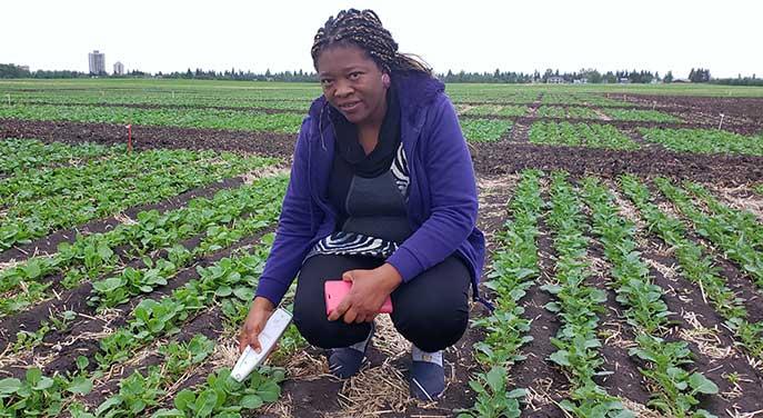 Plant scientist Linda Gorim