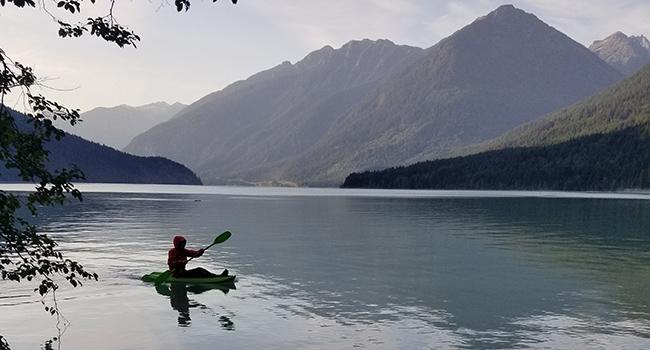 canoeing b.c. rec sites campsites lake mountains