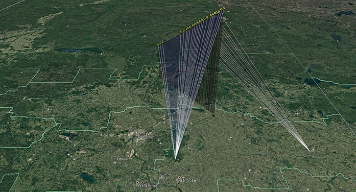observation station comet fireball trajectory