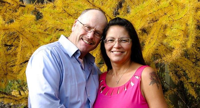 Nina Greene with her husband, Brent
