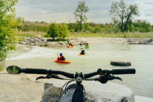 Kayaking on Bow River Calgary