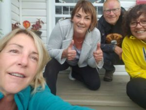 Jo'Anne Roberge, of Rimouski Lisa Monforten Doug Firby Collen