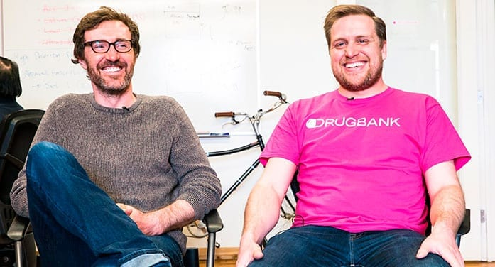 DrugBank founders Craig Knox (left) and Michael Wilson