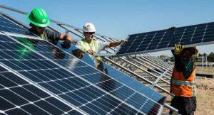 construction build solar panel alternate renewable energy power
