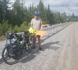 doug firby bike tour road flag